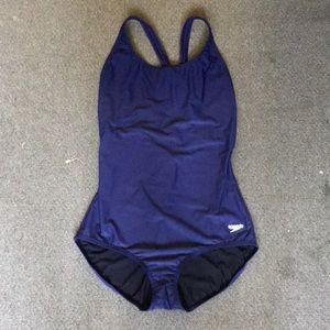 Speedo navy blue bathing suit never worn size 14